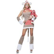 Sexy Sock Monkey Costume Adult Womens Funny Halloween Fancy Dress
