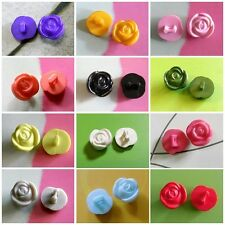 25 Flower Rose Craft Infant Kid Baby Dress Sewing Buttons Size S 11.5mm 18L