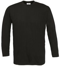 B&C Collection Mens Exact 190 Long Sleeve Crew Neck T-Shirt Adult Casual Tee Top