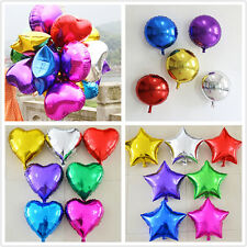 Colored Heart Star Round Design Foil Balloons Wedding Birthday Party Decoration
