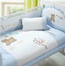 Baby Bedding Crib Cot Bumpers Quilt Sheet Set  - Sunshine Bear Design SKU 1745-1