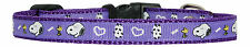 "red black pink ""purple snoopy "" small dog puppy collar *8""- 12"" 1/2"""