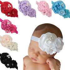 2015 Newborn Baby Kids Flower Headband HairBand Babys Hair Band Accessories Hot