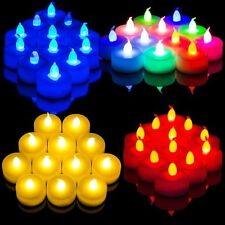 12X Home Decor Flameless Flicker LED Tea Light Candles Battery Operated Tealight