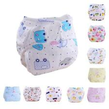 New Cute Babys Kids Cotton Training Under Pants Reusable Infants Nappies Diapers