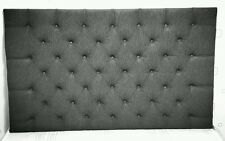 "24"" MARKET Style Headboard in CHENILLE with Fabric Buttons All Sizes & Colours"