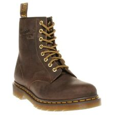 New Boys Dr. Martens Brown 1460 Leather Boots Mid-Calf Lace Up