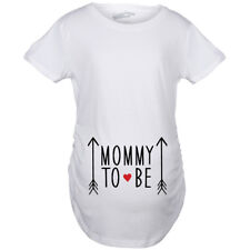 Maternity Mommy to Be Cute Graphic Arrow T-Shirt Funny Pregnancy Announcement Te
