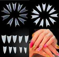 Clear Natural White Nail Tips UV Gel False Point Stiletto French Acrylic 500PCS