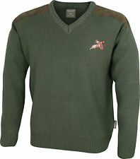 Jack Pyke Shooters V Neck Jumper Pullover Shooting Hunting Embroidered Pheasant