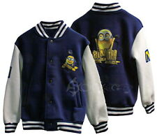 Boys Minions Baseball Varsity Jacket Ages 2-9 Years Despicable Me Dave