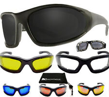 Motorcycle Sunglasses Foam Padded Biker Riding Glasses Goggles Snug Wind Shield