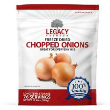 LONG TERM DEHYDRATED CHOPPED ONIONS - DRIED MINCED ONION- EMERGENCY FOOD STORAGE