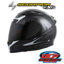 BRAND NEW SCORPION EXO-R710 FOCUS BLACK / SILVER  FULL FACE MOTORCYCLE HELMET