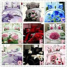 3D Bedding Quilt Doona Duvet Cover Bed Sheet Pillowcase Set--Queen and King size