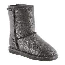 Kids Bearpaw Emma Youth Boot 608Y-860 Black Silver 100% Authentic Brand New