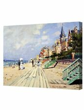 The Beach at Trouville by  Monet. Giclee Print Stretched Canvas 20x16""