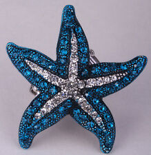 Starfish stretch ring cute animal bling scarf jewelry gifts charm 5 dropship