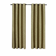 "Tan Galleria (54 x 84"") Blackout Thermal Tonal Stripe Window Grommet Curtains"