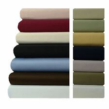 22 Inch Super Deep Pocket Bed Sheets, 600 TC Soft Solid 100% Cotton Sheet Set
