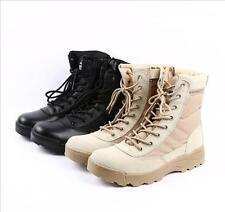 Mens Military Combat Athletic Tactical BOOTS Outdoor HIKING Lace Up Fashion SHOE