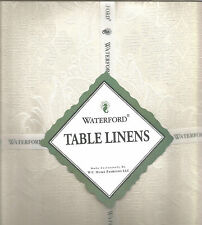 "WATERFORD LINENS AINSWORTH IVORY DAMASK MEDALLION 70""x104"" TABLECLOTH"