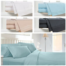 1800 COUNT DEEP POCKET 4 PIECE BED SHEET SET SOFT 12 COLOR BED SHEET