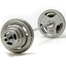TNP Tri-Grip Cast Iron Olympic Barbell Weight Disc & Barbell Set-from 85kg-185kg