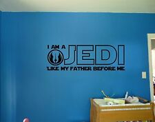 Star Wars I Am A Jedi Like My Father Before Me Quote Vinyl Wall Decal Sticker