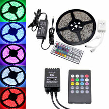 5/10/15m 5050/3528 SMD LED Flexible Lighting Strip Light 44key Remote + Power