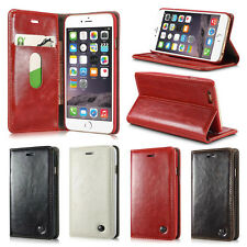 For Mobile Phone Luxury Magnetic Flip PU Leather Wallet Card Holder Stand Case
