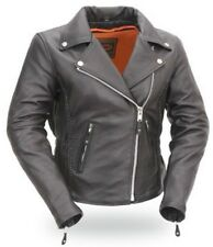 Women's Hourglass Classic style Soft Leather Jacket Braid trim Allure by First
