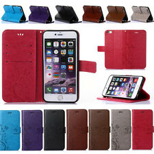 Magnetic Flip Butterfly Stand Wallet PU Leather Cover Case For Various Phones