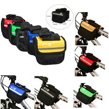 Bicycle Bike Cycling Frame Pannier Saddle Front Tube Bag Both Side Double Pouch