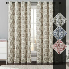 "Single Konya Grommet Blackout Window Curtain, Taupe Printed Panel, 54""x 84"""