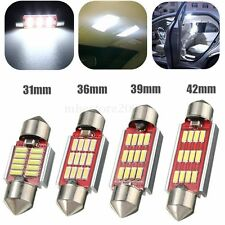 2x 31-42mm 10/12SMD 4014LED Canbus Error Free Festoon Interior Light Bulbs White