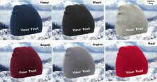 Create Your Own Custom Personalised Beanie -6 Colours Available- Free UK P&P