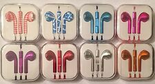 Lot of 10 Earphones Earbud Headset Headphone with Mic for Apple iPhone 5, 6 iPod