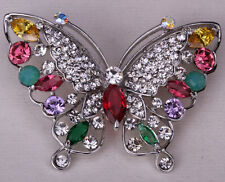 Butterfly brooch pin cute bling fashion jewelry gift for her WP11 dropshipping