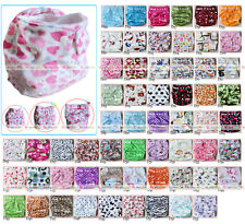 Baby Infant Soft Minky Hip Snap Cloth Diaper Nappy Pocket Reusable Adjustable