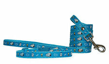 "blue brown green ""Snoopy"" small dog puppy collar & lead 2 sizes 1/2"""