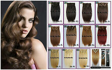 70g 90g Virgin Clip in 100%Real Huam Hair Extension Remy,Full Head,Mix Colors AU