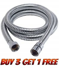2M Extra Long Stainless Steel Chrome Flexible Shower Head Hose Bathroom Pipe New