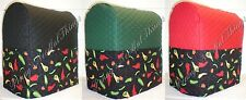 Quilted Hot Peppers Cover for Kitchenaid 7qt Lift Bowl Stand Mixer w/Pockets