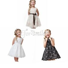 Kids Baby Girls Princess Flower Tutu Dress Party Formal Lace Tulle Skirt Gown