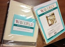 WAVERLY FANTASY FLEUR SOLID CREAM TWILL w/ TAUPE PUMICE TRIM PAIR EURO SHAMS
