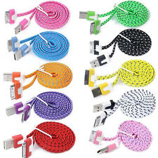1/2/3M Strong Braided USB Sync Data Charger Cable Cord For iPhone 4 4S iPod iPad