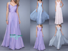 Long ChiffonEvening Formal Party Cocktail Ball Prom Dresses Bridesmaid Dresses
