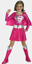 Rubies Kids World Book Day Pink Supergirl Girls Fancy Dress Party Costume