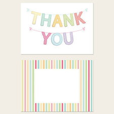 Pack of 10 for any occasion Thank You Postcard Cards - Gingham Thank You Bunting